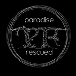 Paradise Rescued logo - White-on-Black
