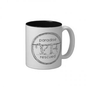 Paradise Rescued Coffee Mug - black on white