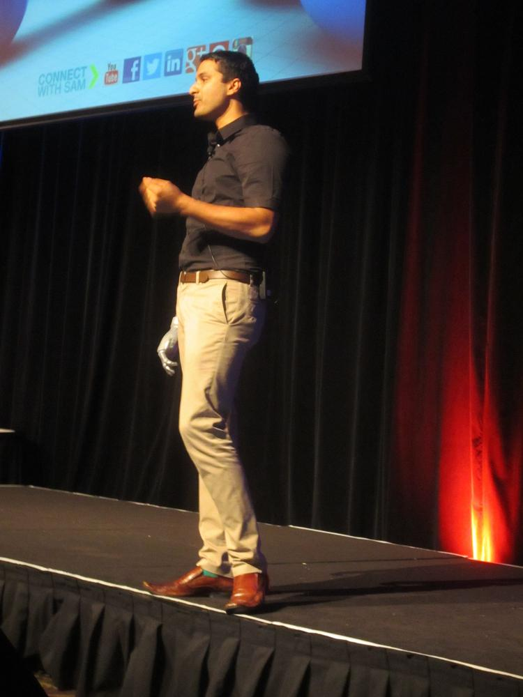 Sam Cawthorn gets his point home on happiness