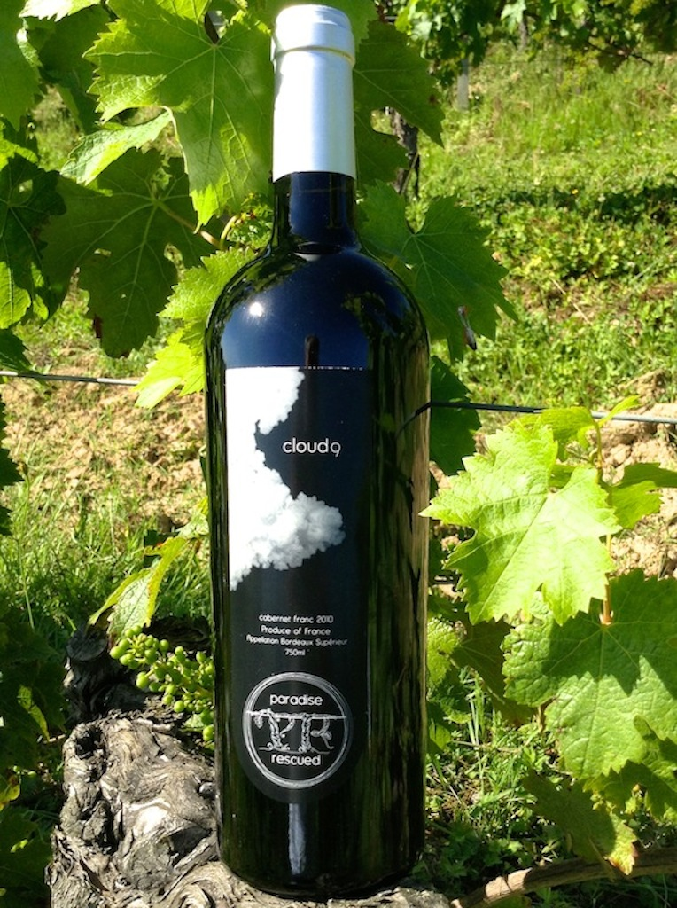 Paradise Rescued Cloud9  Bordeaux 100% varietal CabFranc is bottled with BTEC technical taint free corks