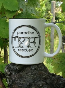 The Paradise Rescued logo is the catalyst for our brand