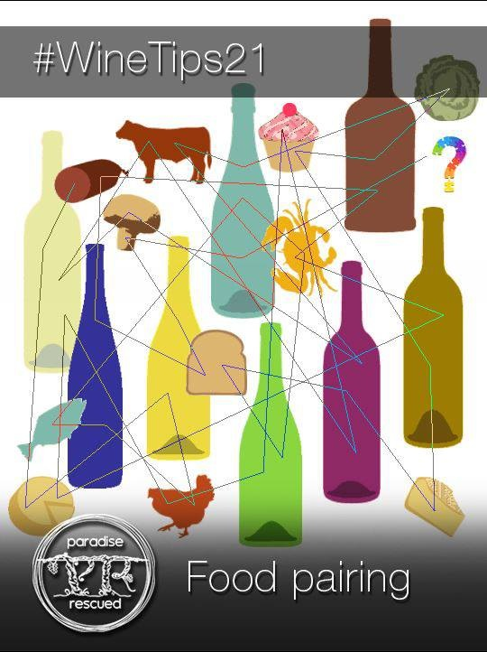 #WineTips 21 Food pairing - learn about how to pair the right type of wine with your food.