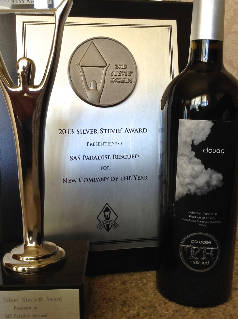 Paradise Rescued - winner Silver Stevie International Business Award Best New Company 2013.