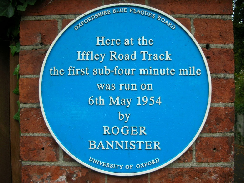 Roger Bannister's commemorative plaque in Oxford England - Wikipedia