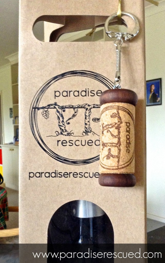 The Paradise Rescued logo adding that special touch