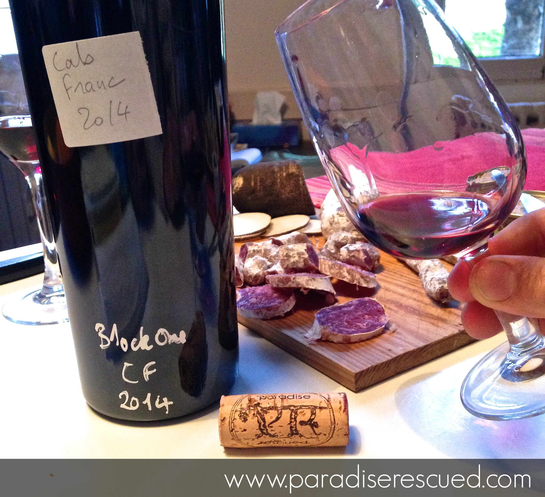 Tasting Paradise Rescued 2014 B1ockOne Cabernet Franc