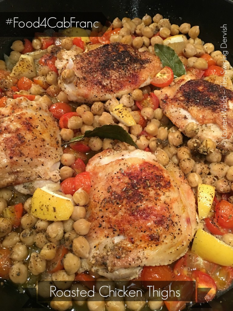 Roasted Chicken Thighs with Vegetables - #Food4CabFranc
