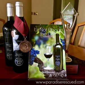 Paradise Rescued wines and book