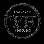 Paradise Rescued logo - White-on-Black