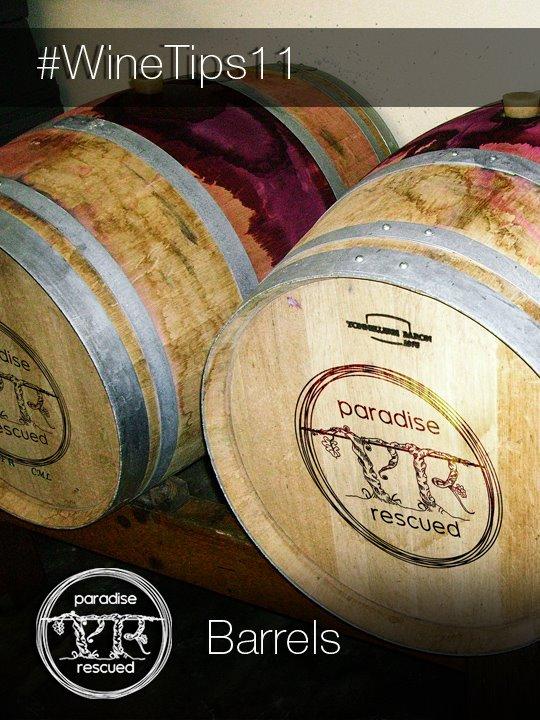 Oak barrels - a key part of wine making