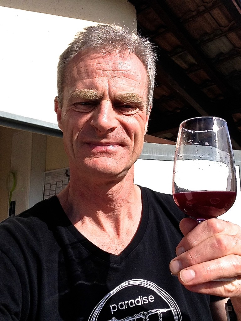 The boss is pleased with 2013 CabFranc! David Stannard, Owner Director Paradise Rescued.