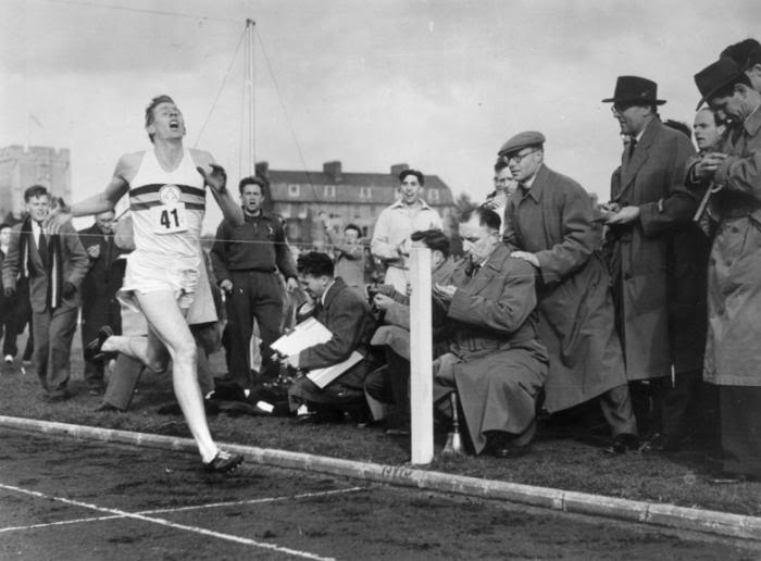 Roger Bannister breaking the four minute mile in 1954 -  Photobucket
