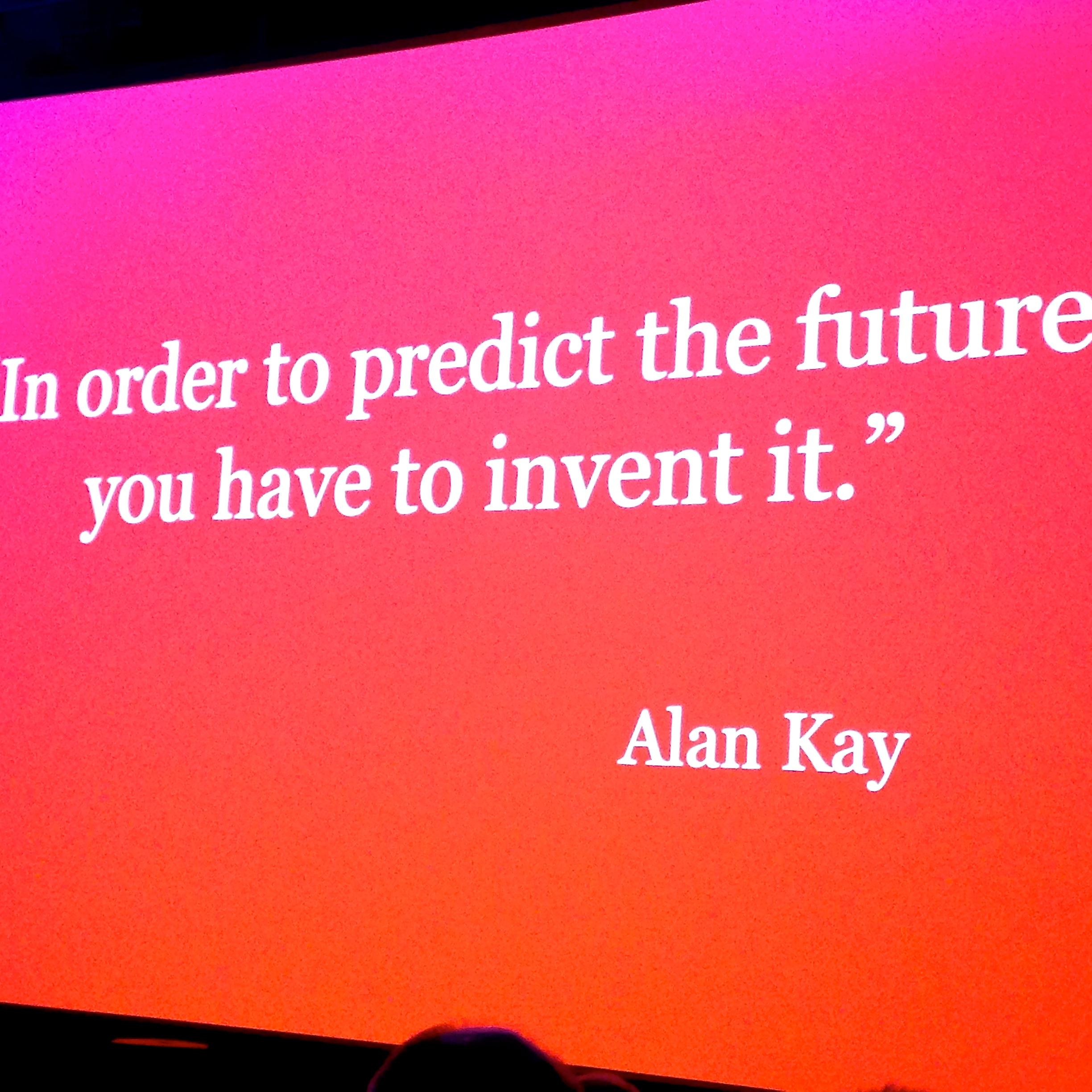 Nice quote - we need to grow and expand our horizons of what is possible