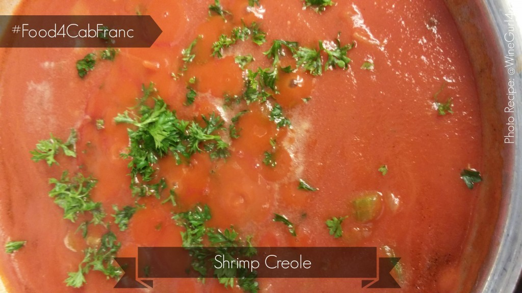 #Food4CabFranc - Shrimp Creole Recipe / Photo by @WineGurl4u
