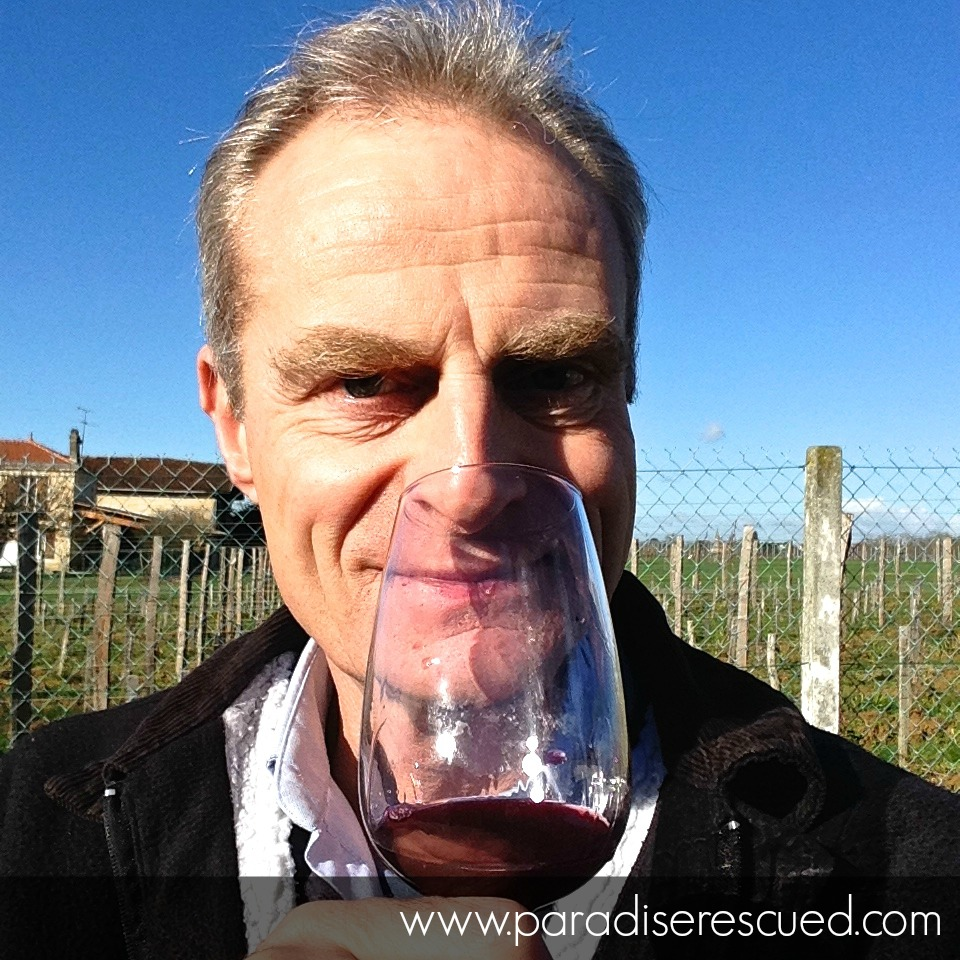 Paradise Rescued Founder David Stannard sampling the 2015 Cabernet Franc