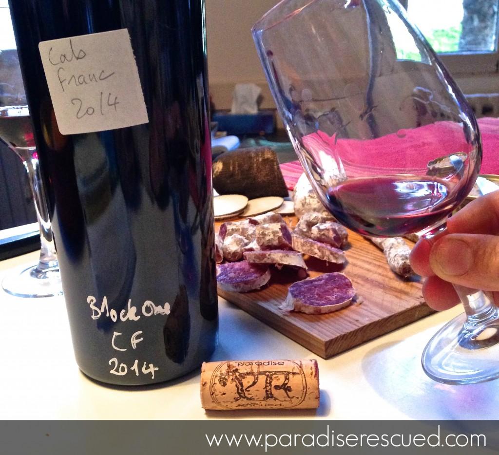 Taste Test - Paradise Rescued B1ockOne Cabernet Franc 2014. Superb!