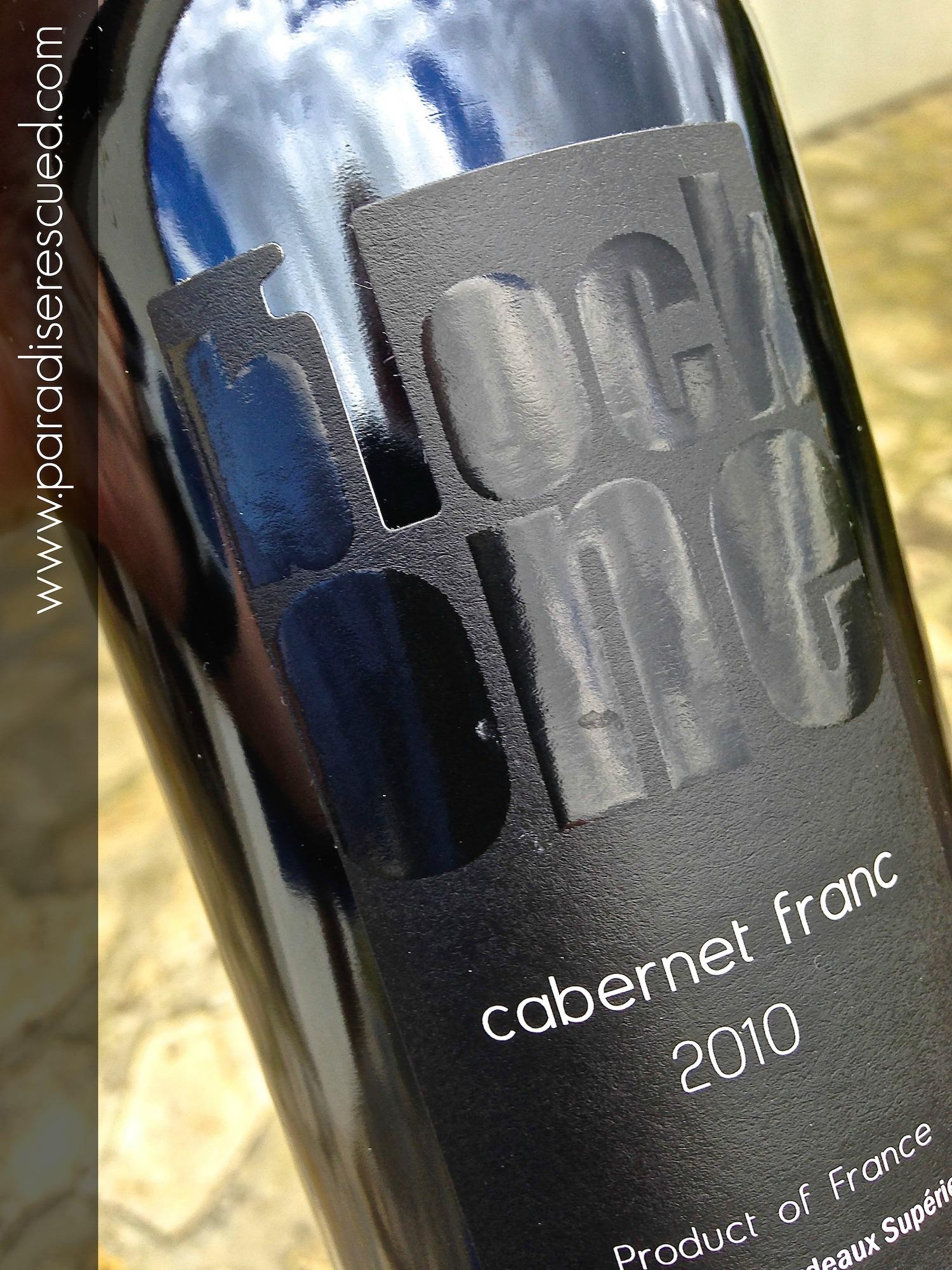Paradise Rescued B1ockOne Bordeaux Cabernet Franc 2010 - beautiful Bordeaux Wine